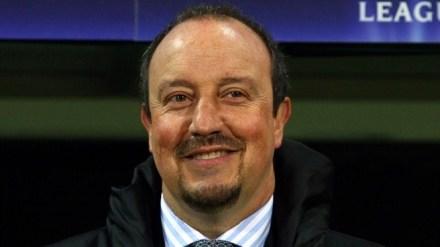 ...e o treinador Rafa Benítez.