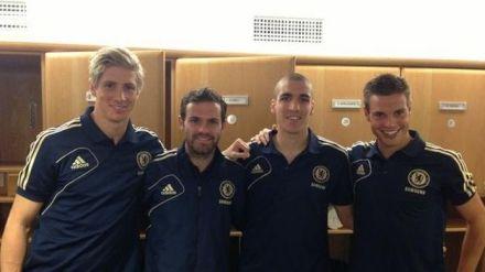 Os 4 jogadores espanhóis do Chelsea...