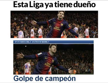 Capa do Marca.com e do Sport.es