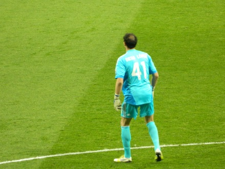 Outro destaque do jogo, o goleiro do Real Madrid, Diego Lopez, e sua careca :)