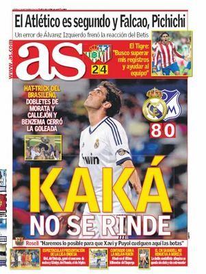Capa do jornal AS com Kaká - 2012
