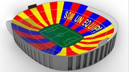 O mosaico do Camp Nou para Barcelona x Milan (fcbarcelona.com)