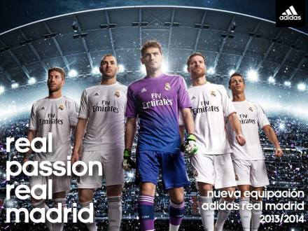 Novas camisetas Real Madrid