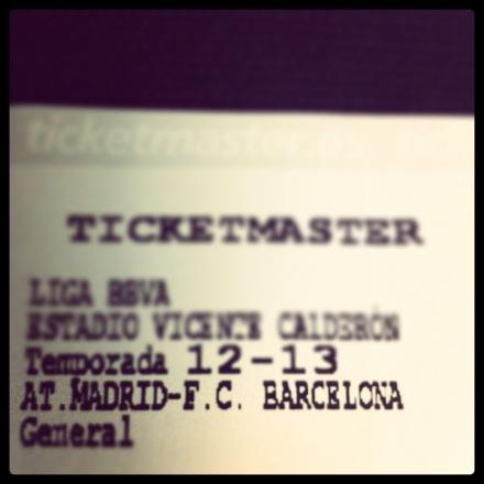 Ingresso jogo Atlético Madrid Barcelona