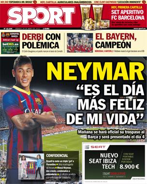 capa jornal espanhol neymar