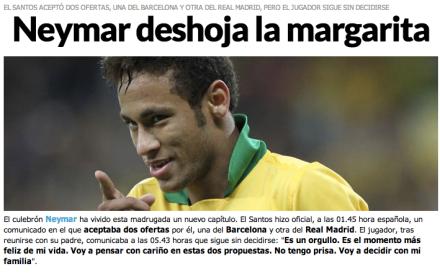 jornal marca Neymar