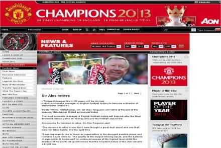 Manchester United confirma aposentadoria Ferguson