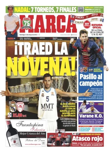 Capa do jornal Marca