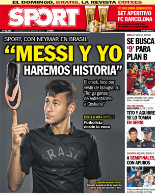 Neymar capa jornal catalunha
