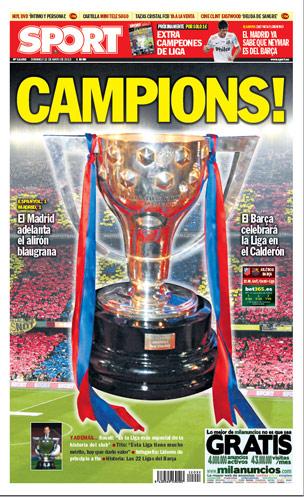 Capa jornal Sport Catalunha