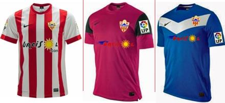 Camisetas Almería 2013-14