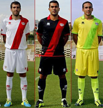 Camisetas Rayo Vallecano 2013-14
