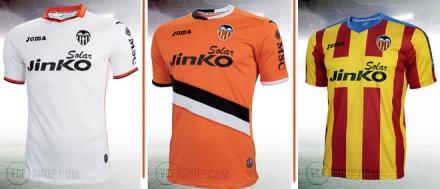 Camisetas Valencia 2013-14