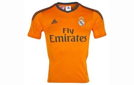 camiseta laranja real madrid