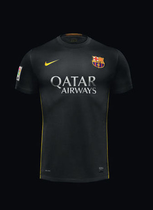 65b9bb17e2b7d Camiseta Preta Barcelona