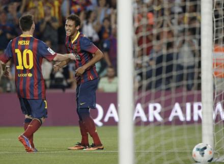 neymar primeiro gol campeonato espanhol
