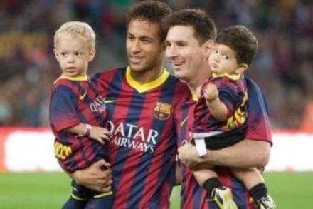 foto filhos neymar e messi