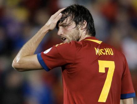 Michu estreia com a camiseta da Espanha