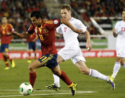 Pedro foi o melhor jogador da Espanha