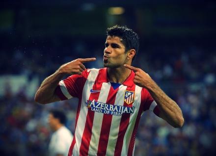 diego costa marca os dois gols do atlético e é o artilheiro do espanhol
