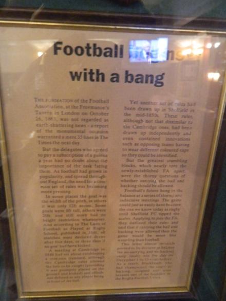 Documento criação da Federação Inglesa futebol