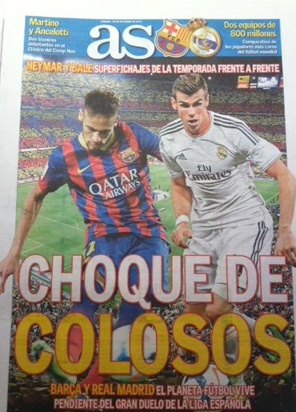 Barcelona x Real Neymar x Bale