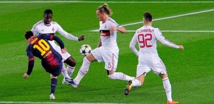 Milan x Barcelona Liga dos Campeoes