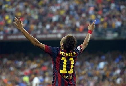Neymar marca no seu primeiro Barcelona x Real Madrid