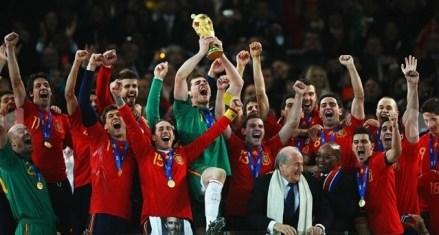 selecão espanhola campeã do mundo em 2010