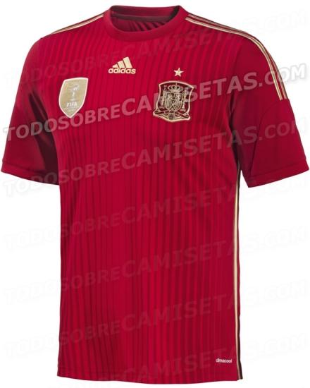 Camiseta Seleção Espanhola Copa 2014