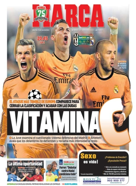 Real Madrid jogará com a camiseta laranja