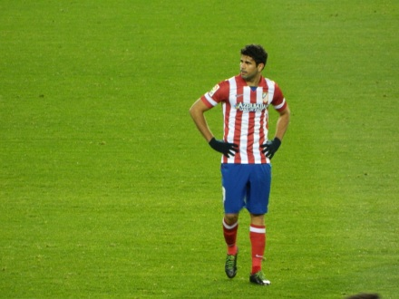 Diego Costa marca o segundo do Atleti contra o Athletic