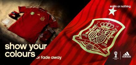 Uniforme Espanha Copa 2014 Adidas